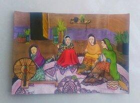 نقاشیهای ارسال شده به مسابقه بینالمللی  دستهای پاک