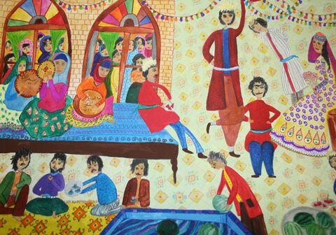 فاطمه جوانمردی برگزیده مسابقه بینالمللی نقاشی نوازاگورا کشور بلغارستان