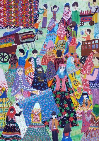 کوثر یزدانپرست برگزیده مسابقه بینالمللی نقاشی نوازاگورا کشور بلغارستان