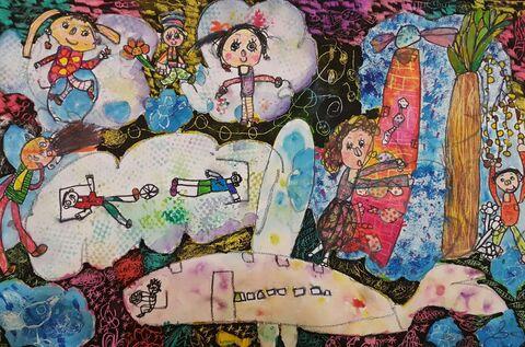 هانا حیات هندیجانی برگزیده مسابقه بینالمللی نقاشی نوازاگورا کشور بلغارستان