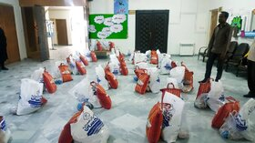 اهدای بستههای کمک معیشتی و فرهنگی به اعضای و خانوادهها در زاهدان
