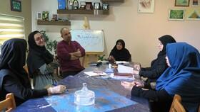 نخستین نشست انجمن قصهگویی کانون استان قزوین در سال ۹۹ برگزار شد