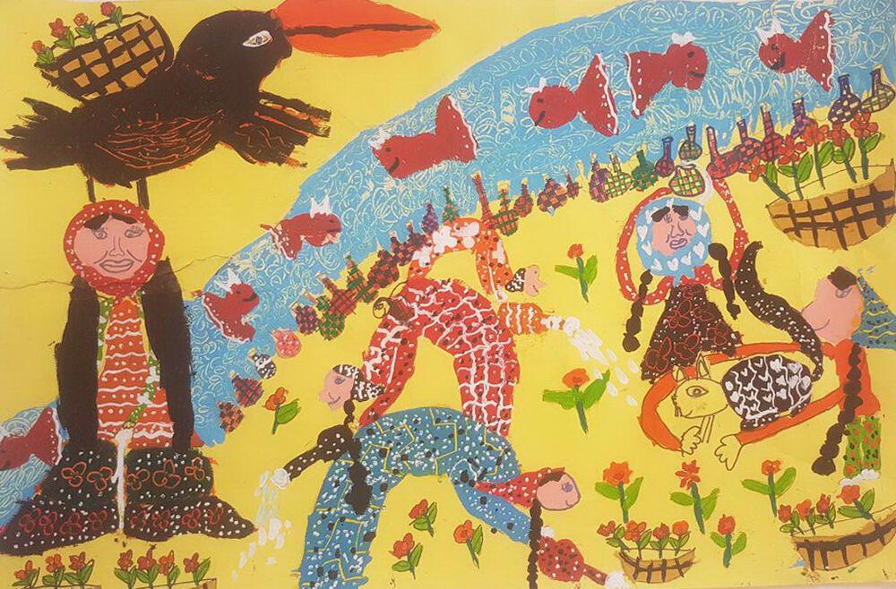 درخشش کودکان هنرمند کرمانشاهی در مسابقه نقاشی رومانی