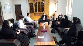 دیدار مسئولین مراکز ثابت و سیار کانون پرورش فکری دشتستان با فرماندار این شهرستان