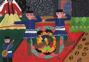 Selected works of Iranian children and adolescents in Belarus painting competition