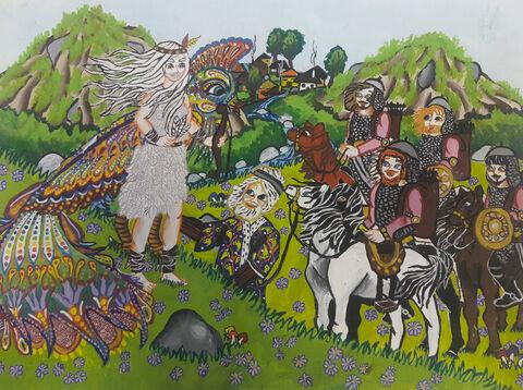 الهه خدایی 11 ساله از مرکز 35 تهران برگزیده مسابقه نقاشی بلاروس