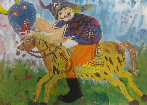 امیر رضا باقری 12 ساله از مرکز 12 تهران برگزیده مسابقه نقاشی بلاروس