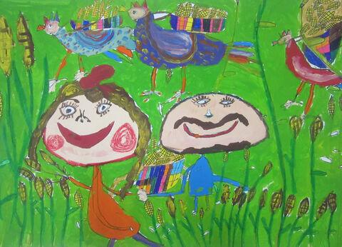 امیر حسین راحده 8 ساله از مرکز 2  کرمانشاه برگزیده مسابقه نقاشی بلاروس