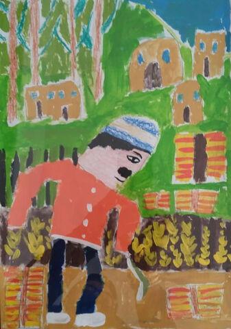 امیر رضا پناهی 10 ساله از مرند برگزیده مسابقه نقاشی بلاروس
