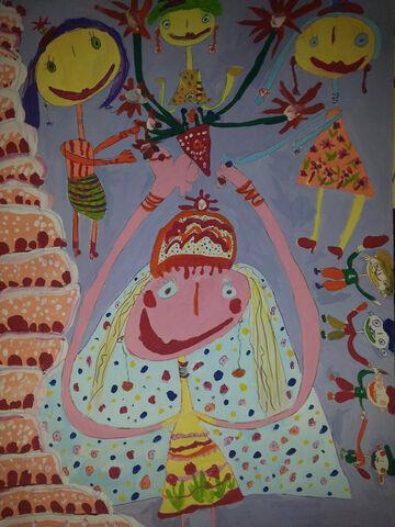 باران جمشیدیفر 7 ساله از مرکز 12 کرمانشاه برگزیده مسابقه نقاشی بلاروس