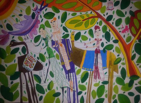 سارینا سهیلی 8 ساله از مرکز 1 کرمانشاه برگزیده مسابقه نقاشی بلاروس