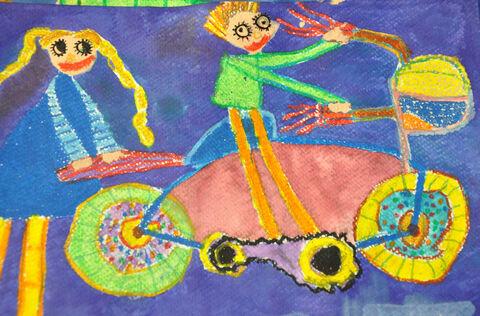 سیدمحمدپویا ابوالفضلی 5 /6 ساله از قاین برگزیده مسابقه نقاشی بلاروس