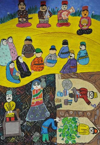 فاطمه اسماعیلی 13 ساله از سرایان برگزیده مسابقه نقاشی بلاروس