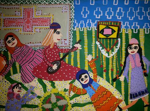 فاطمه هاشمینژاد 13 ساله از اسلامآباد غرب برگزیده مسابقه نقاشی بلاروس