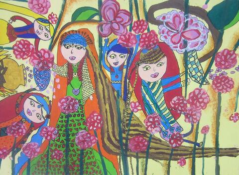 کوثر ویسیپور 10 ساله از مرکز شماره 2 کرمانشاه برگزیده مسابقه نقاشی بلاروس