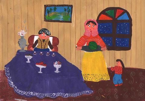 گیتی خراسانی 11 ساله از ارومیه برگزیده مسابقه نقاشی بلاروس
