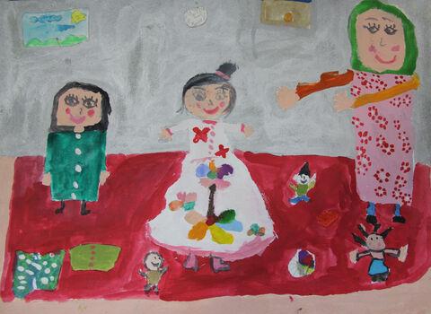 مطهره اسماعیلزاده 12 ساله از شیروان برگزیده مسابقه نقاشی بلاروس