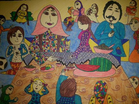 نرگس جزیره 10 ساله از مرکز 2 کرمانشاه برگزیده مسابقه نقاشی بلاروس