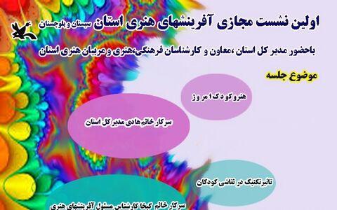 نشست مجازی آفرینشهای هنری کانون سیستان و بلوچستان برگزار شد