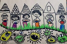 نقاشی کودک و نوجوان گلستانی، در بین برترین آثار مهروارهی«بهار در خانه»