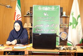 کارگاه مجازی و برخط(آنلاین) کانون پرورش فکری گلستان در حال برگزاری است