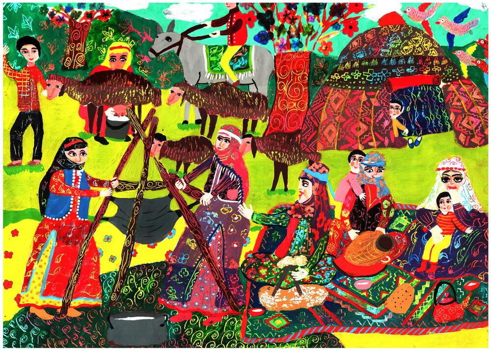 اعطای دیپلمافتخار مسابقه نقاشی اسپانیا به دو عضو کانون پرورش فکری