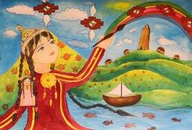 آثار اعضای کانون گلستان جهت شرکت در بیستوهشتمین مسابقه بینالمللی نقاشی هیکاری ژاپن۲۰۲۰