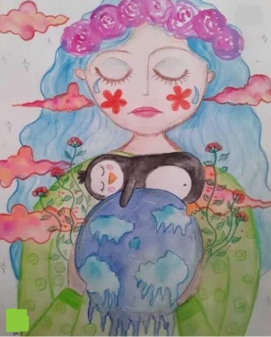 درخشش عضو کانون آذربایجانغربی در مسابقه نقاشی محیط زیست