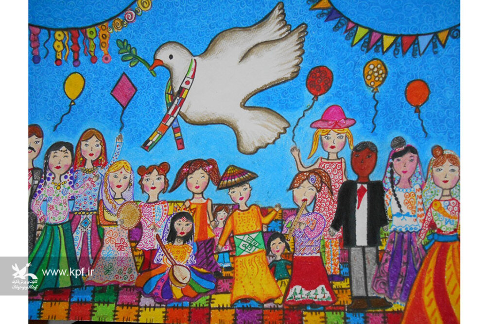آناهیتا افشاریتوانا عضو کارگاه نقاشی مرکز فرهنگی هنری شماره یک کانون پرورش فکری همدان
