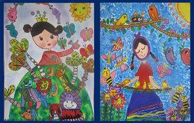 دو عنوان برگزیده جشنواره نقاشی«صلح و دوستی» به گیلانیها رسید