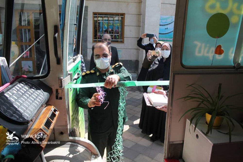 آیین رونمایی از تجهیز و ساماندهی کتابخانه سیار شهری همدان برگزار شد