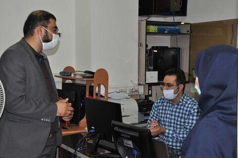 بازدید بازرس  ویژه فرمانداری کرج از چگونگی اجرای پروتکل های بهداشتی  در  کانون البرز