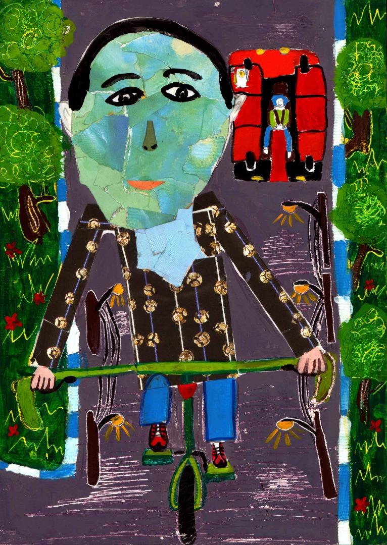 نقاشی حسین کریمی عضو کانون پرورش فکری کودکان و نوجوانان رفسنجان