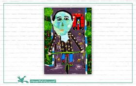 نقاشی عضو کانون کرمان، برگزیده نمایشگاه بینالمللی بلوتنبرگ آلمان