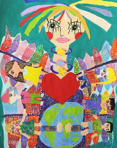 «ملیکا امجدیان» ۱۱ ساله از مرکز شماره ۲ کانون کرمانشاه برندهی جایزه اول نقاشی محیط زیست کودکان جی کیو ای (JQA) کشور ژاپن
