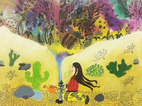 «نسیم زمانی» ۱۳ ساله از مرکز شماره ۳۵ کانون تهران برندهی جایزه اول نقاشی محیط زیست کودکان جی کیو ای (JQA) کشور ژاپن