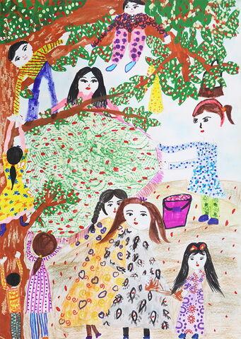 «عارفه میرحاج» ۹ ساله از مرکز محمدآباد استان اصفهان، از بیستمین مسابقه نقاشی محیط زیست کودکان جی کیو ای ژاپن دیپلم افتخار گرفت