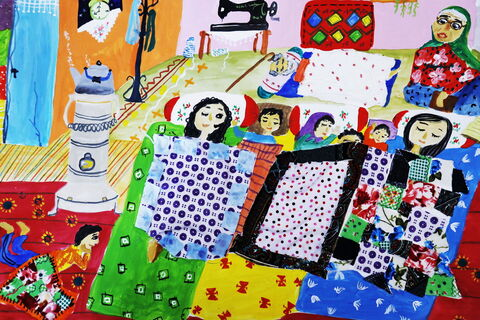 پرنیان خسروآبادی» عضو 12 ساله کانون اسفراین در استان خراسان شمالی برنده جایزه اول مسابقه نقاشی کودکان آسیایی چین