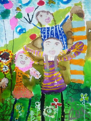 «عسل نعیم» 7 ساله عضو کانون اهواز در استان خوزستان برنده جایزه دوم مسابقه نقاشی کودکان آسیایی چین