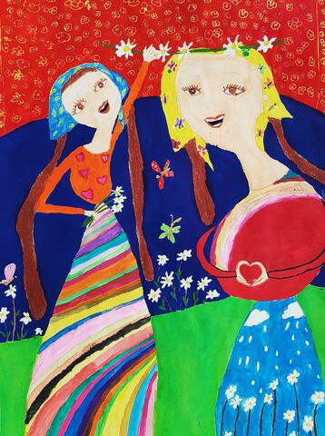 «ثمین حسینپور» 12 ساله عضو کانون ماکو در استان آذربایجان غربی  برنده جایزه دوم مسابقه نقاشی کودکان آسیایی چین