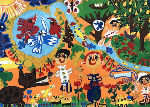 «کیارش صمیمیتبار» عضو 9 ساله مرکز شماره 3 کانون کرمانشاه برنده جایزه دوم مسابقه نقاشی کودکان آسیایی چین