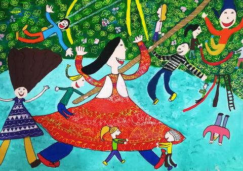 «وانیا شمسی» 9 ساله عضو کانون رفسنجان در استان کرمان برنده جایزه سوم مسابقه نقاشی کودکان آسیایی چین