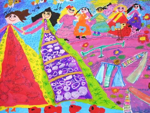 «يسنا عمادیاعظم» 7 ساله، عضو کانون شیرینسو استان همدان برنده دیپلم افتخار مسابقه نقاشی کودکان آسیایی چین