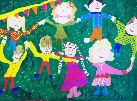 «مهراوه نجفی» 7 ساله، عضو کانون شیرینسو استان همدان برنده دیپلم افتخار مسابقه نقاشی کودکان آسیایی چین