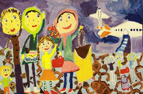 «آنیتا میراولاد» 10 ساله، عضو مرکز شماره 21 کانون تهران برنده دیپلم افتخار مسابقه نقاشی کودکان آسیایی چین