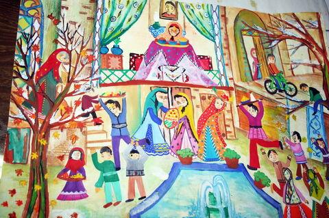 «یکتا قایممقامی» 11 ساله، عضو کانون سمیرم استان اصفهان  برنده دیپلم افتخار مسابقه نقاشی کودکان آسیایی چین