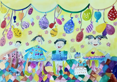 «امیرحسین حسنلو» 7 ساله، عضو کانون زنجان استان زنجان برنده دیپلم افتخار مسابقه نقاشی کودکان آسیایی چین