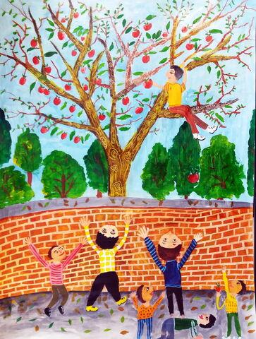 «محمد غفاری» 9 ساله، عضو کانون نمین استان اردبیل برنده دیپلم افتخار مسابقه نقاشی کودکان آسیایی چین