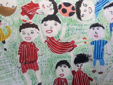 «آیدین بداق»  7 ساله، عضو کانون خرمآباد استان لرستان برنده دیپلم افتخار مسابقه نقاشی کودکان آسیایی چین