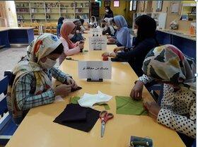 طراحی ماسک در مراکز فرهنگی هنری استان مرکزی برای ترغیب اعضا به استفاده از ماسک